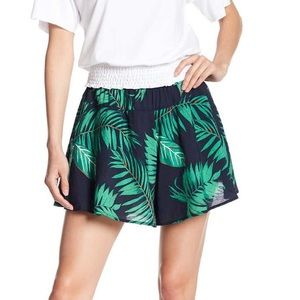 EUC CODE X MODE Palm Print Flowy Shorts Small